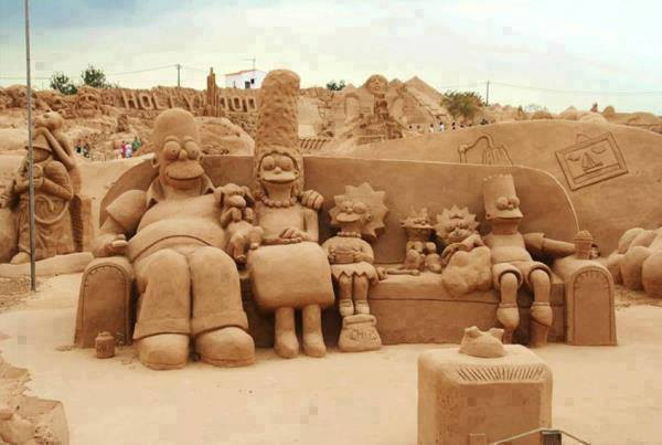 simpsons_sand_art