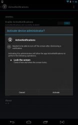 Active Notifications device administrator
