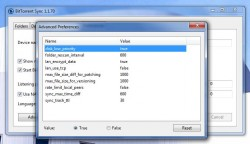 BitTorrent Sync advanced preferences