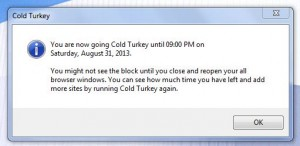 Cold Turkey active