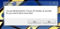Cold Turkey you are still blocked
