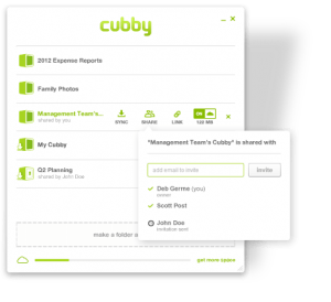 Cubby File Sharing