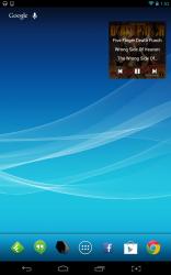Floating Music Widget homescreen