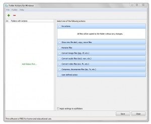 Folder Actions for Windows UI
