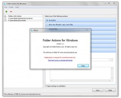 Folder Actions for Windows about