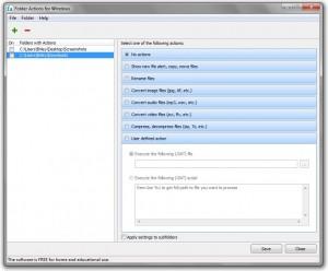 Folder Actions for Windows user defined
