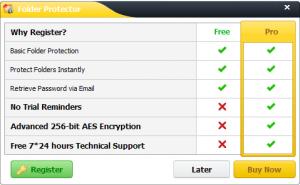 Folder Protector - Free vs Pro
