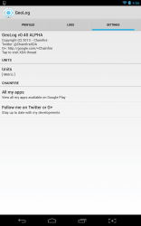 GeoLog settings tab