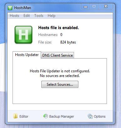 HostsMan UI