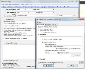 InstantCrypt Email Setup
