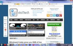 Internet explorer screenshot