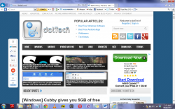 Internet explorer screenshot