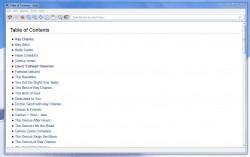 Kiwix table of contents