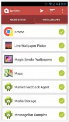 Krome installed apps