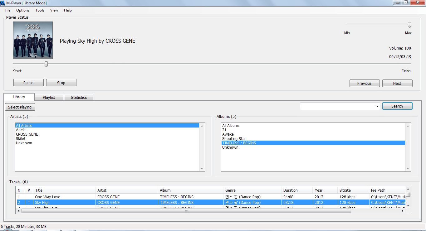 M-Player Library Mode
