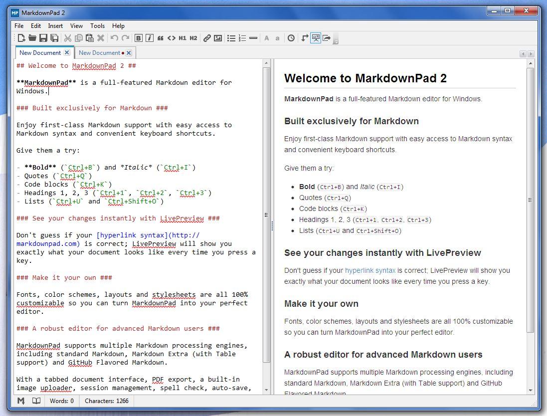 MarkdownPad UI