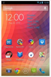 NetLive homescreen widget blue