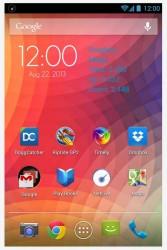 NetLive homescreen widget blue