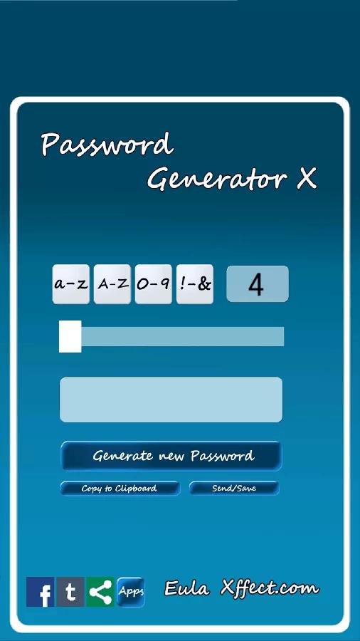Password Generator X