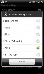 Smart Voice Recorder Sample Rate Quality