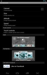 The Nebulander customization settings