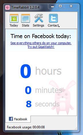TimeRabbit Facebook monitor