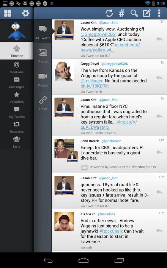 TweetCaster Stream