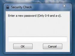 WinLockr first run password prompt