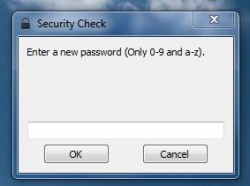 WinLockr first run password prompt