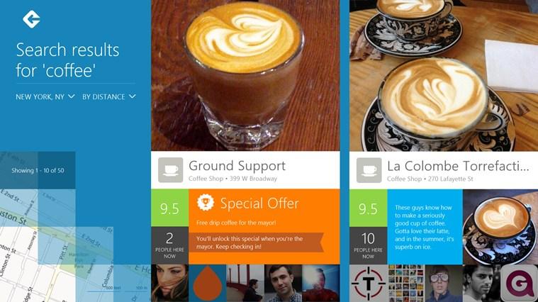 foursquare win8