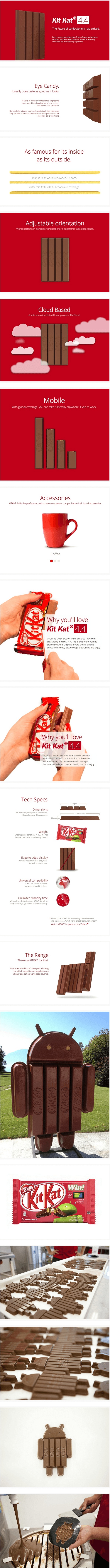 Nestle creates awesome KitKat 4.4 ads, in celebration of Android KitKat [Image]