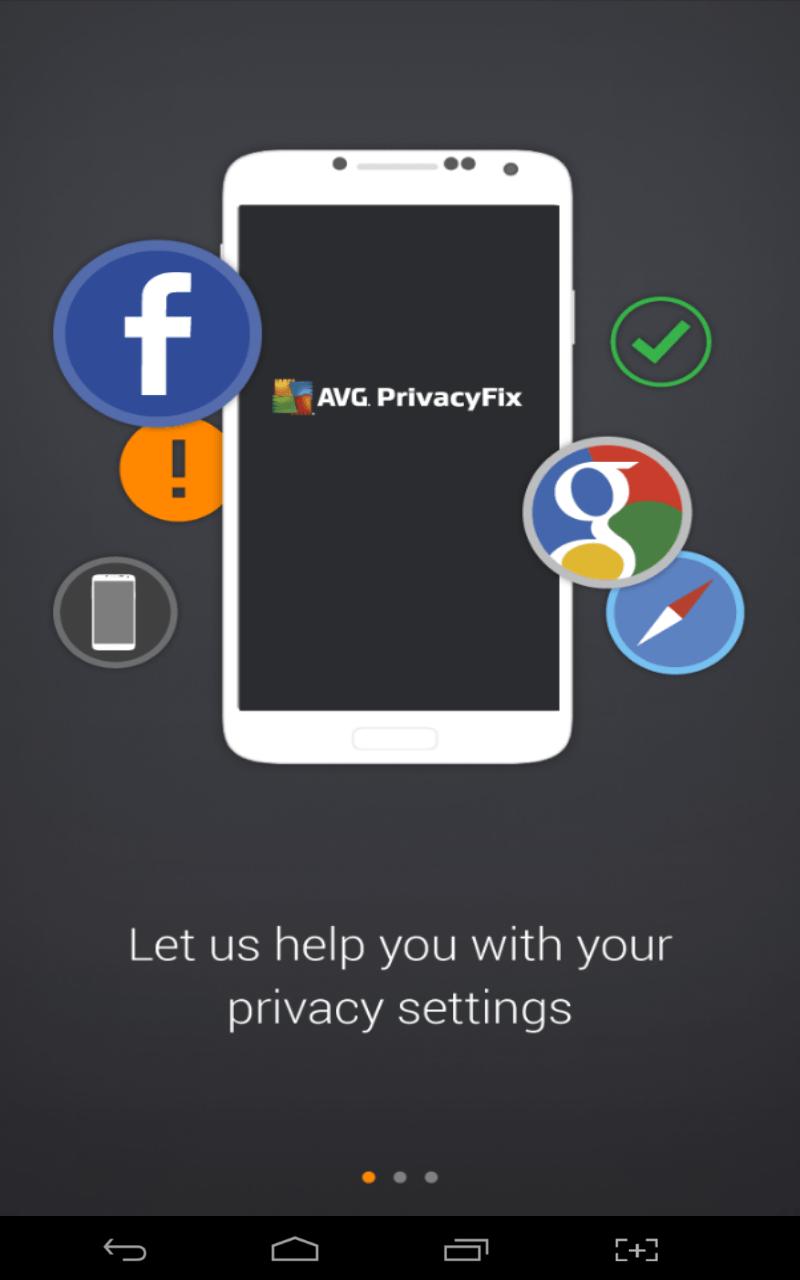 AVG PrivacyFix splash