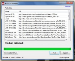 Antivirus Remover download and run (opening)