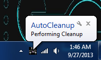 Auto Cleaner performing cleanup