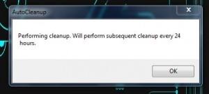 Auto Cleaner scheduler alert