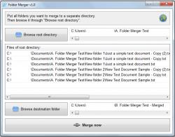 Folder Merger Merge Now