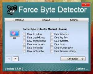 Force Byte Detector Manual cleanup