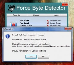 Force Byte Detector conduit found