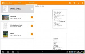 Genius Scan documents tab