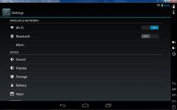 Genymotion Android settings menu