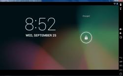 Genymotion Nexus 7 virtual device active