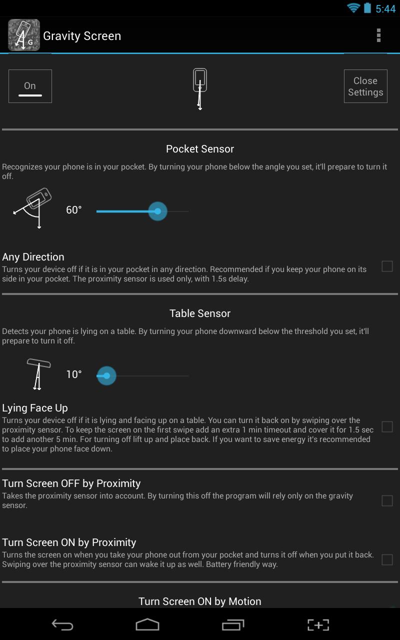 Gravity Screen UI