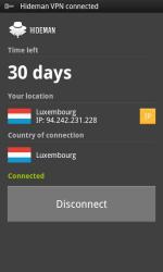 Hideman VPN disconnect