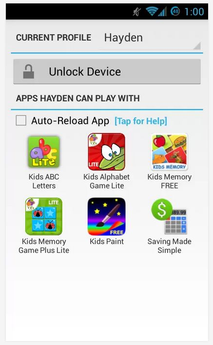 Kids Zone App Lock UI