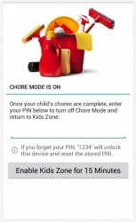 Kids Zone App Lock chore mode