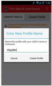 Kids Zone App Lock profile