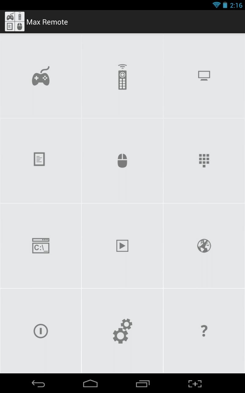 Max Remote Beta UI
