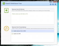 MobiSaver iTunes Backup Found