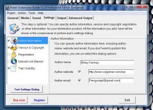 PSSB settings tab