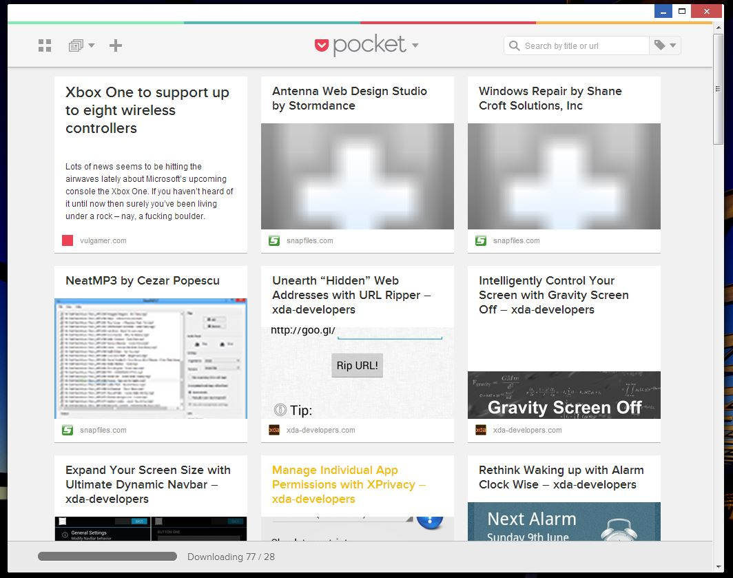 Pocket homepage